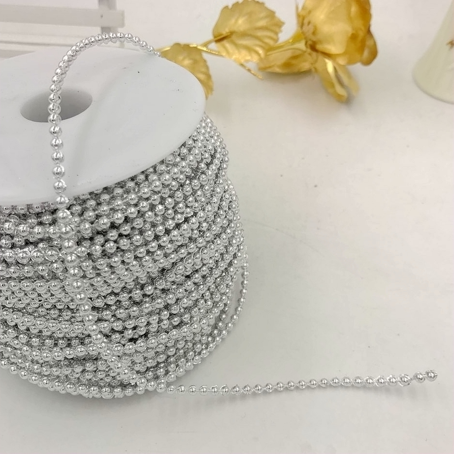 2x 20 Meter Pearl Beads Strings Roll for Party Garland Flower Wedding DIY