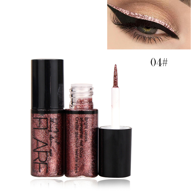 Professional New Shiny Eye Liners Cosmetics for Women Pigment Silver Rose Gold Color Liquid Glitter Eyeliner Cheap Makeup 2