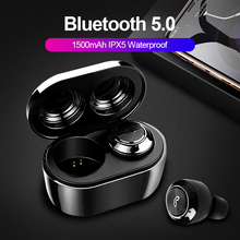 TWS Bluetooth 5.0 Earphone Wireless Headphone True Wireless Stereo Earbuds Sports Handsfree Waterproof With Charging box
