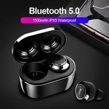 TWS Bluetooth 5,0, беспроводные наушники, настоящие беспроводные стерео наушники, спортивные свободные руки, водонепроницаемые с зарядным устройством