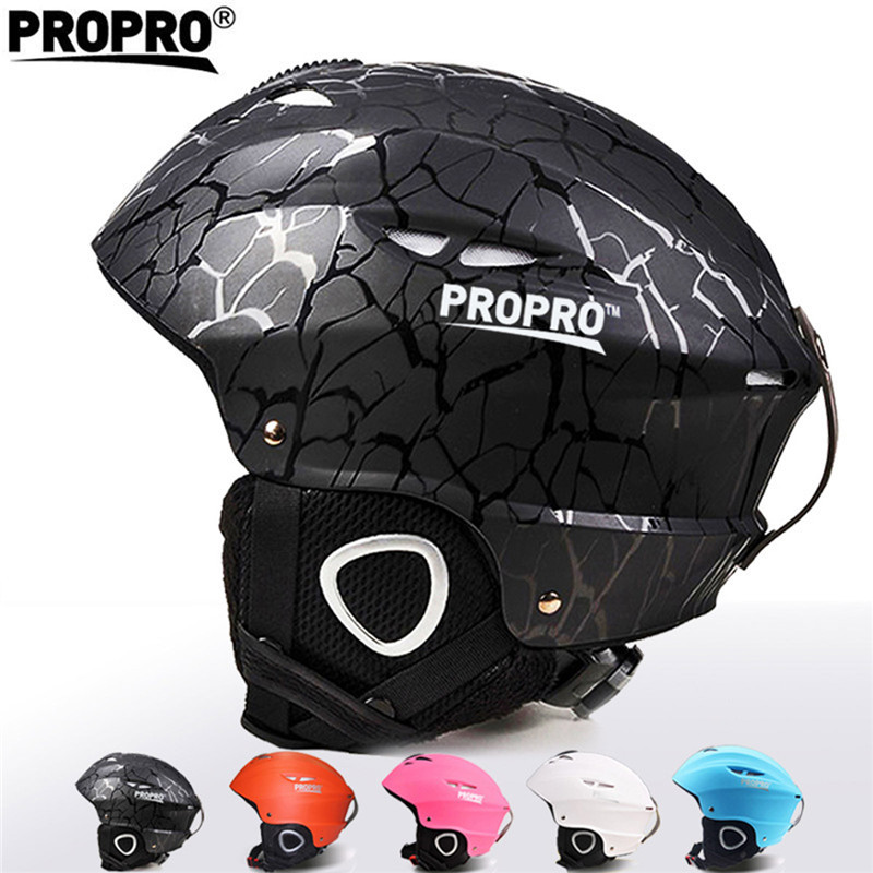 PROPRO Brand Outdoor Sport Helmets Integrally-molded Skiing Helmet For Adult and Children Safety Skateboard Ski Snowboard Helmet pink ski helmets cover motorcycle skiing helmets best outdoor safety helmet for skiing snowboard skating adult men women