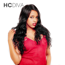 HCDIVA Malaysian Body Wave Human Hair Weaving 1 Bundle Weft Natural Black Color Can Be Dyed Bleached Non Remy Hair Bundles Weave
