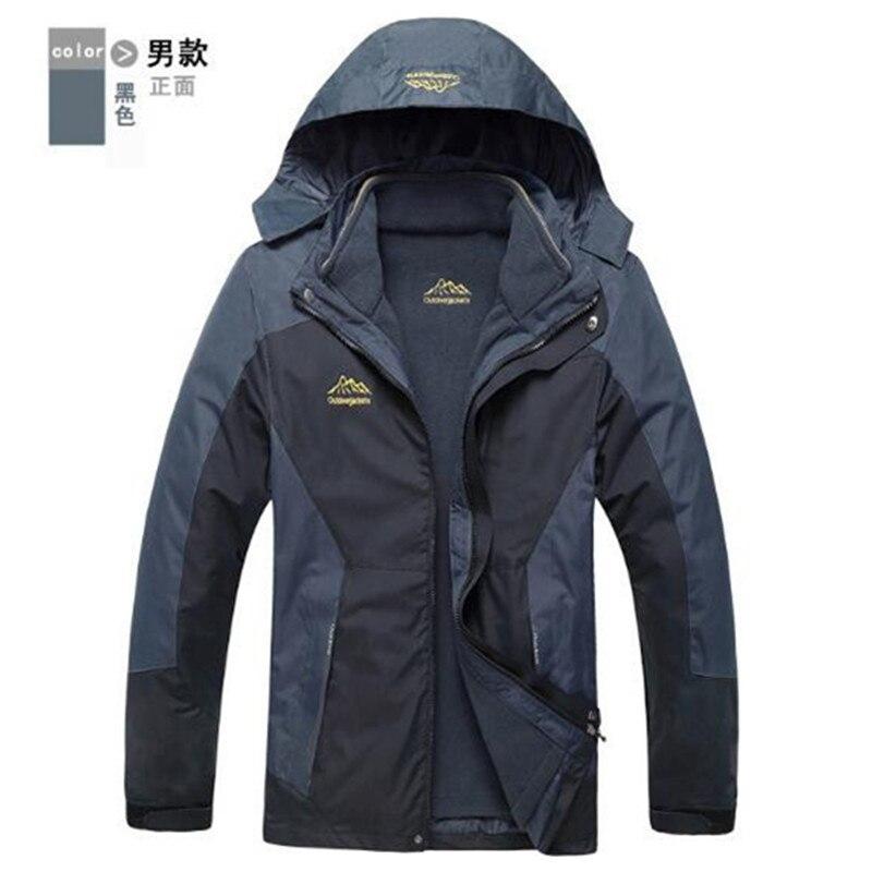 Winter font b Jacket b font Men font b Women b font 3 In 1 Warm