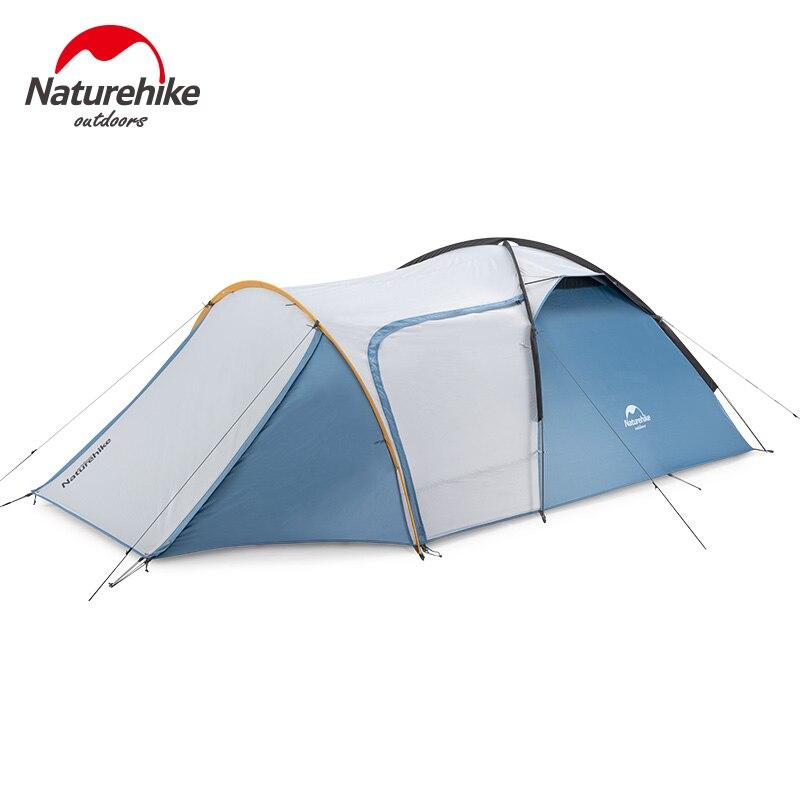Nature randonnée chevalier tente une chambre un hall 3 personne tente camping en plein air auto-conduite imperméable coupe-vent tente