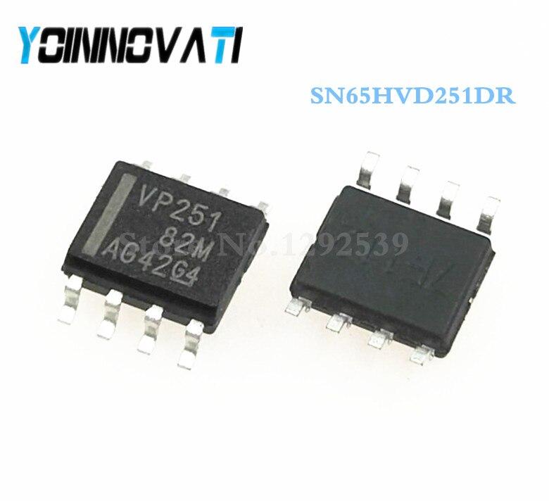 Free shipping 50pcslot SN65HVD251DR SN65HVD251 65HVD251 VP251 SOP8