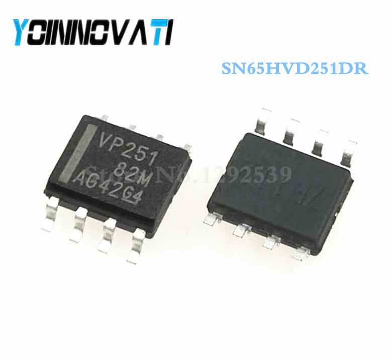 Free shipping 50pcs/lot SN65HVD251DR SN65HVD251 65HVD251 VP251 SOP8-in Integrated Circuits from Electronic Components & Supplies