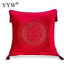 Europe Geometric Red Throw Pillow Covers Without Pillow Inner Printed Pillowcase Throw Cushion Pillows Case Home Bed Room