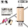 Suntrsi Tipo-C 3.1 OTG Pendrive 64 GB de Metal USB Flash Drive 64 GB de alta Velocidade USB 3.0 USB Pendrive Micro USB para Telefones inteligentes vara
