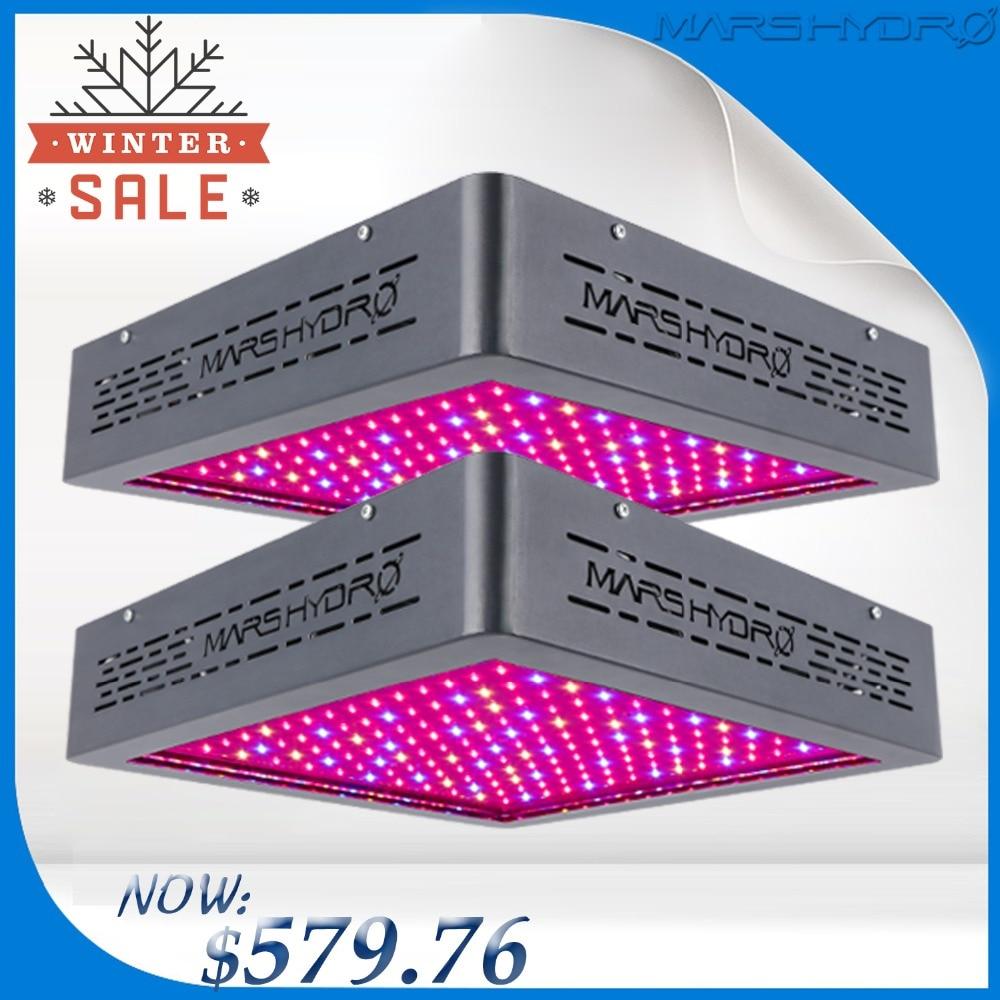 Aggiornato 2 PCS Marshydro Mars II 900 LED Coltiva La Luce a Spettro Completo Per La Fioritura/Crescita Delle piante D'appartamento in crescita led lampada