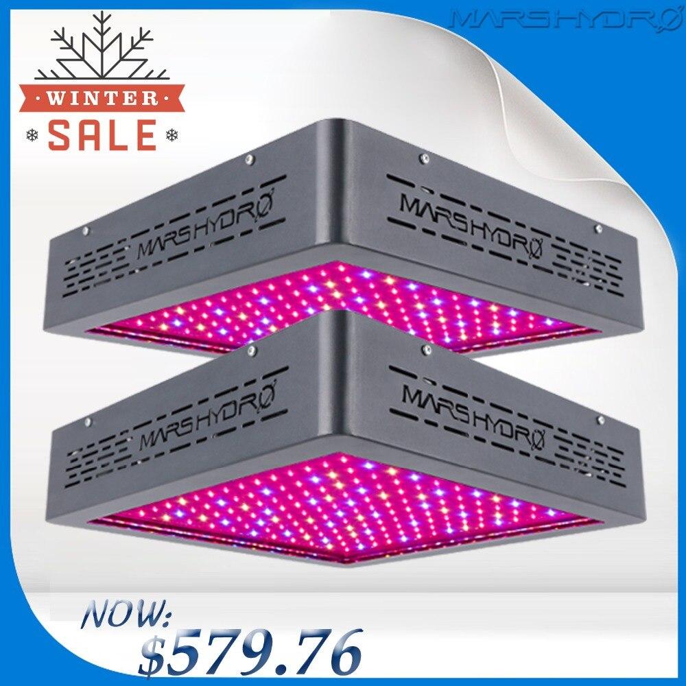 Mis à jour 2 PCS Marshydro Mars II 900 LED Élèvent La Lumière Plein Spectre Pour La Floraison/Croissance plantes D'intérieur croissante LED lampe