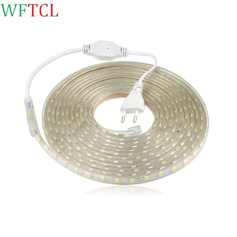 110V 220V IP67 Waterproof SMD 5050 EU plug LED Strip Flexible Light 60leds/m Led Tape LED Light 1M/3M//5M/8M/10M/12M/15M/18M/20M