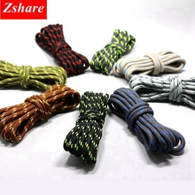 1Pair 19 colors round shoelaces outdoor hiking sports shoe laces kids sneakers length 100 120 140 160CM lacets baskets