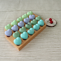Nicole R1476 handmade figura del cuore del silicone stampi per il cioccolato