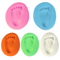 4pcs Lot Colors New Baby Care Air Drying Baby Handprint Footprint Clay Kit Casting Light Hand