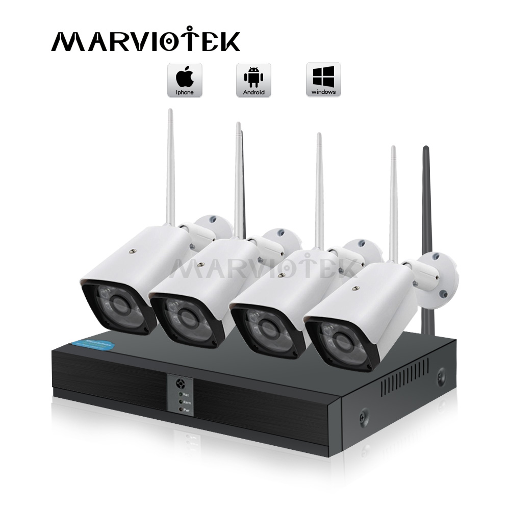 CCTV camera System 4CH Wireless Outdoor home camera security system wifi cameras set Video Surveillance ip camera wifi NVR Kits image