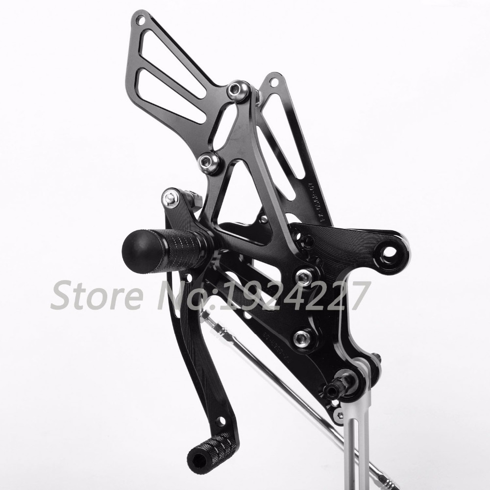 High-quality Motorcycle CNC Adjustable Foot Pegs Rearsets For Kawasaki ZX6R 2005-2008 Hot Sale Motorcycle Foot Pegs Black