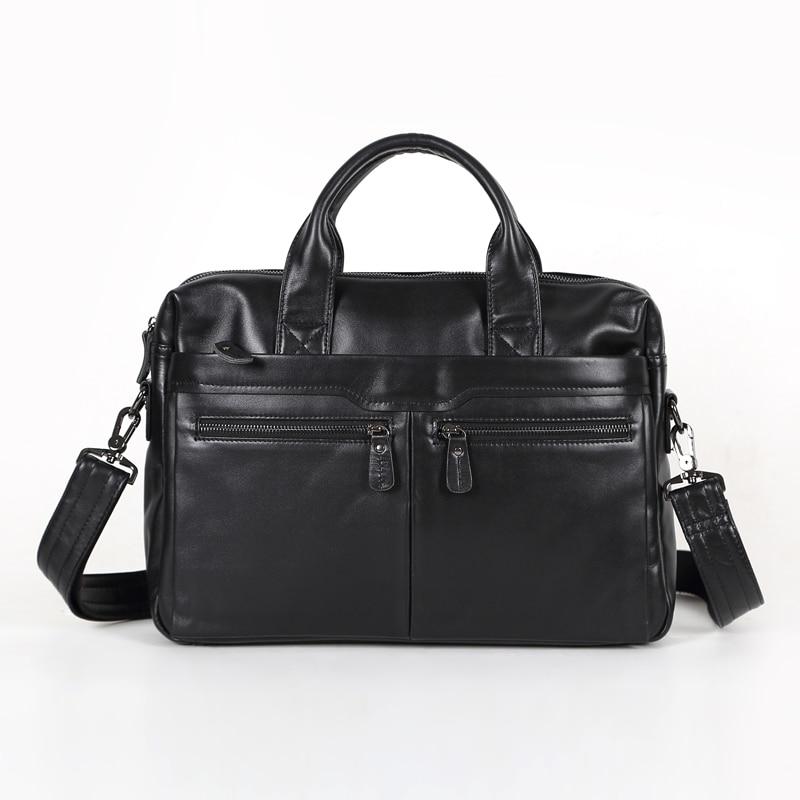 Nesitu Promotion Real First Layer Genuine Leather Briefcase Portfolio Men Messenger Bags #M7122