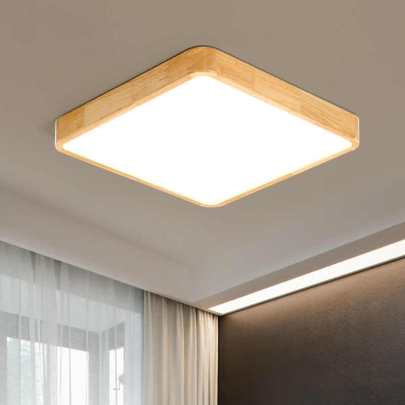 Деревянный светодиодный потолочный светильник Потолочные светильники для гостиной люстры потолочные для зала современные потолочные лампы высотой 7 см
