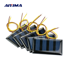 Aiyima 10pcs 2V 60MA Mini Solar Panel Polycrystalline Solar Cell DIY Solar Support 1.2V Battery Charger 59*34MM