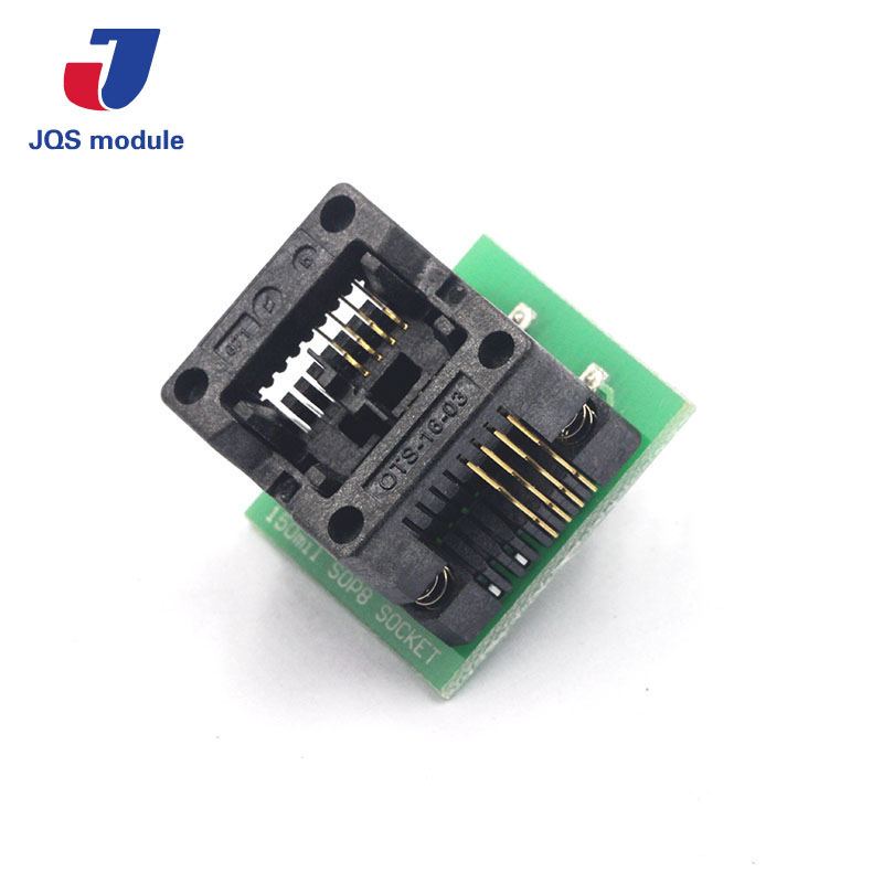 SOIC8 SOP8 to DIP8 EZ Programmer Adapter Socket Converter Module 150mil programmer testing clip sop8 sop soic 8 soic8 dip8 dip 8 pin bios 24 25 93 flash chip ic socket adpter test clamp