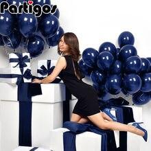 100 sztuk 12 cali 10 cali jasny niebieski balony ciemnoniebieskie balony urodziny wesele dekoracja baby shower lśniący niebieski Globos
