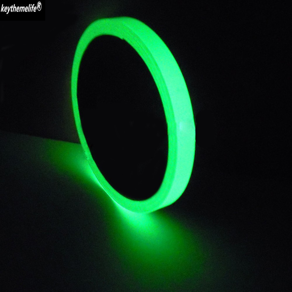 10-30mm Width 3M Length Glow Fluorescent Stairs Sticker Permanent Cycle DIY Warning Luminous Strip Anti-collision Sticker 6B