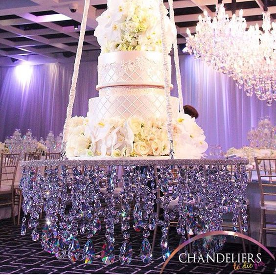 Phenomenal Wedding Hanging Swing Crystal Cake Stand Elegant Swing Wedding Centerpiece Weddings Decor Wedding Cake Chandeliers Download Free Architecture Designs Grimeyleaguecom