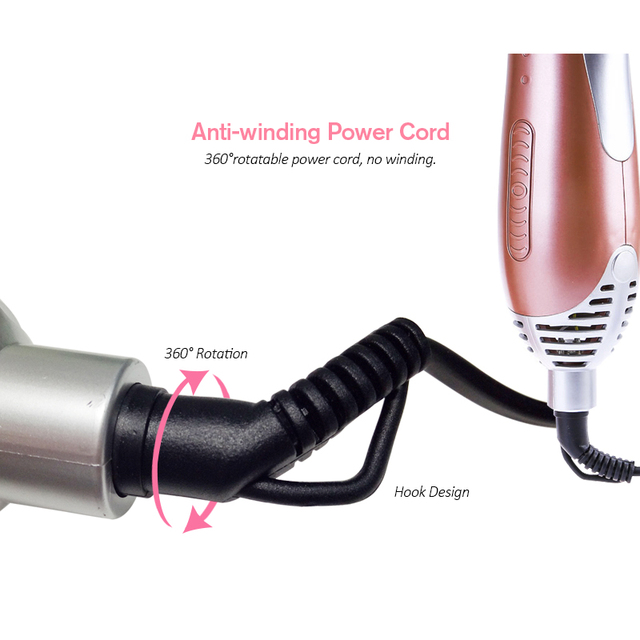 TINTON LIFE Professional Hair Dryer Machine Comb 2 in 1 Multifunctional Styling Tools Set Hairdryer Curling Iron