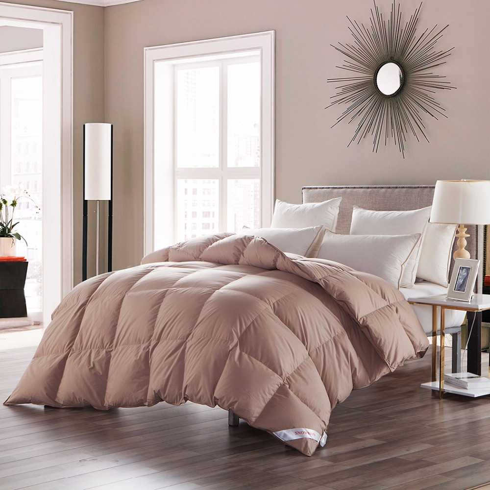 luxurious khaki goose down comforter duvet new design goose down comforter soft and warm enough