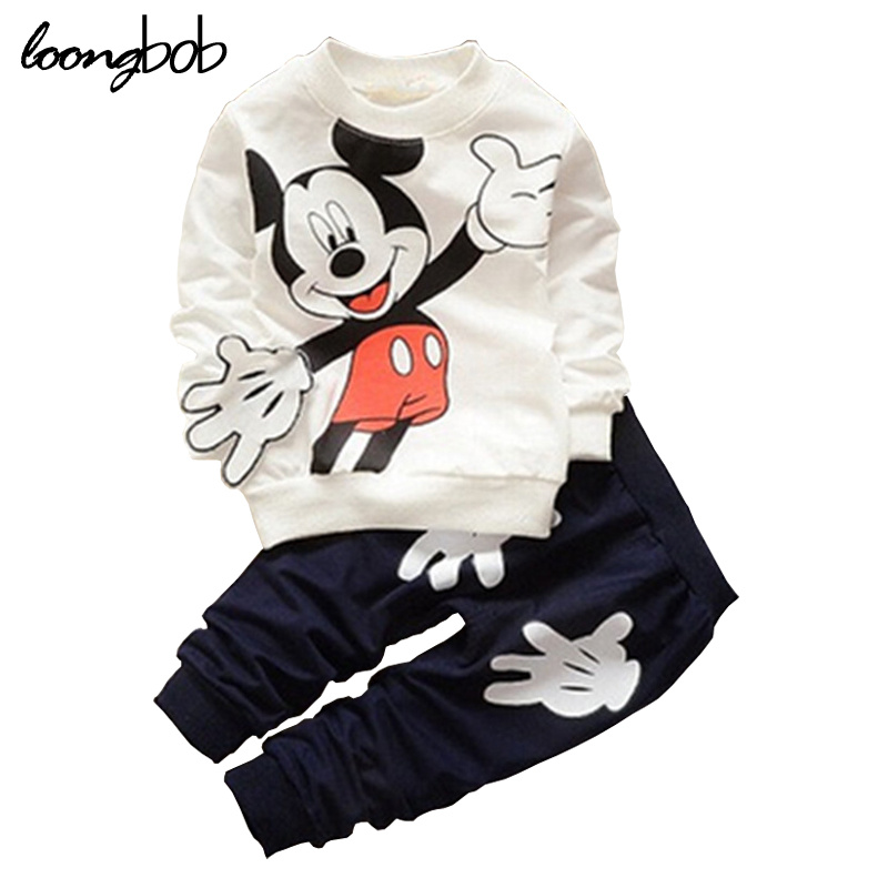 Baby Boy Girl Spring Autumn Suits Toddler Long Sleeve T-shirt Sets Children 2pcs Pullover Sweatshirts+pants Kid Cartoon Clothing autumn new cartoon elephant printed long sleeve children sweater boy girl pullover top shirts sweatshirt clothing