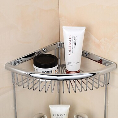 Merveilleux Brass Double Space Bathroom Shelf For Bath Shower Bathroom Basket Soap  Holder In The Bathroom Accessories In Bathroom Shelves From Home  Improvement On ...
