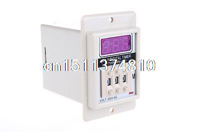 ASY-3D AC 220V 999 Minute Digital Timer Programmable Time Delay Relay White ac 220v power on delay timer relay and socket asy 3d 99s relays