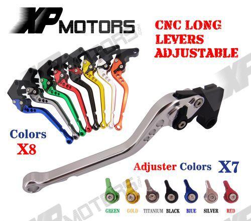 CNC Long Brake Clutch Lever For Yamaha FJR1300 XJR1200 XJR1300 YZF750 R SP FZR1000 EXUP YZF1000
