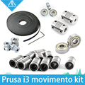Frete grátis! impressora 3d reprap prusa i3 kit movimento cinto gt2 polia 608zz lm8uu rolamento 624zz rolamento