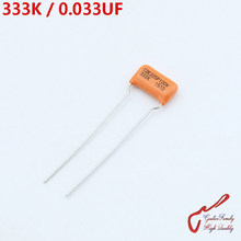 GuitarFamily Orange Tone Capacitor CDE225P 333K 0.033UF 100V For Electric Guitar Bass Cap MADE IN USA(China)