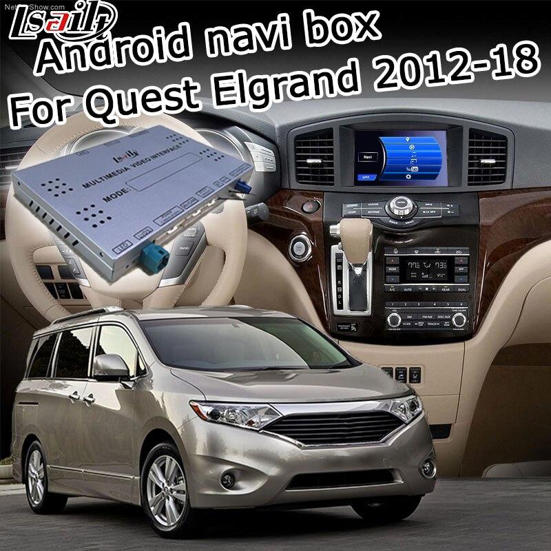Elgrand Lsailt Android GPS box navegação para Nissan Quest 2011-2017 high end, com a Patrulha Armada Pathfinder 370z etc