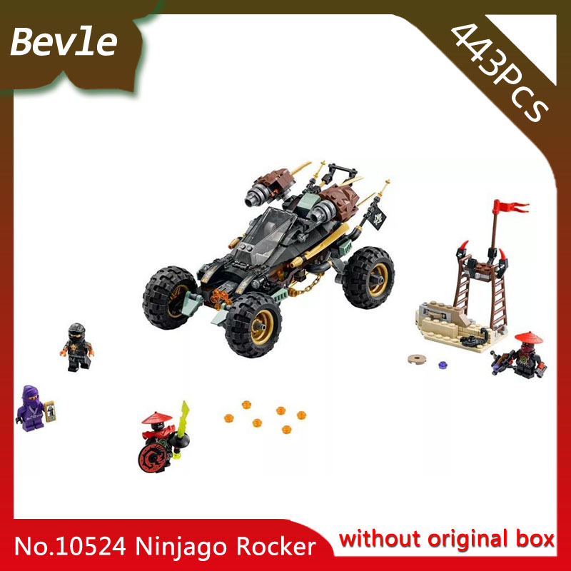Bevle Store Bela 10524 429Pcs Ninja Series Rock car Model Building Blocks Bricks Set Toys with