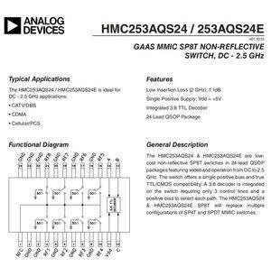 Image 5 - HMC253 DC 2.5 GHz RF יחיד מוט שמונה לזרוק מתג RF מתג אנטנה בחירת ערוץ בחירה