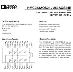 Image 5 - HMC253 DC 2.5 GHz RF de un solo polo interruptor de ocho tiros RF interruptor de antena selección de canal