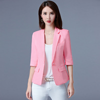 2017 Free Shipping New Summer Suit Seven Short Sleeved Casual Jacket Women Work Wear Clothes