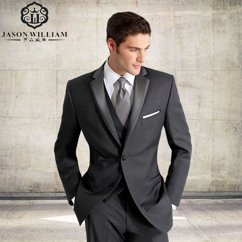 Gray Tux Wedding: LN087 Custom Made Groom Tuxedos Grey Formal Wear Wedding