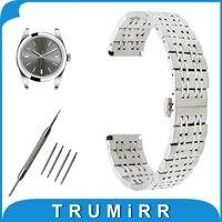 18mm 20mm 22mm Stainless Steel Watch Band For Rolex Butterfly Buckle Strap Wrist Belt Bracelet Black