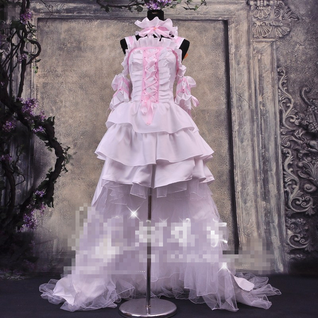 New Cos Anime Chobits Chi Pink And White Color Cosplay Dress Cosplay  Costume Princess Party Dress Custom Made Clothes cb0e242e90a5
