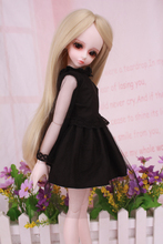 цена 1/4 1/6 Bjd doll clothes Bjd doll sd doll bjd black dress baby clothes measurement онлайн в 2017 году