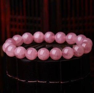Naturel rose cristal bracelet bracelets Femmes dr. pêche