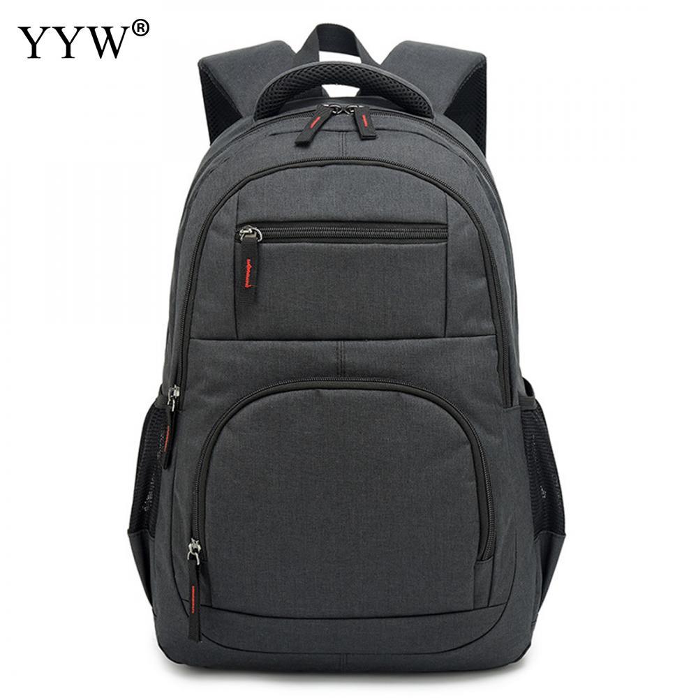 USB téléphone sac à dos hommes sac à dos pour ordinateur portable en toile grand voyage sacs d'école mâle noir gris hommes de haute qualité sacs à livres simples - 5
