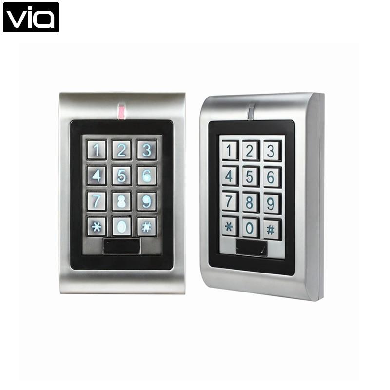 SK1-R Free Shipping Outdoor Metal RFID Waterproof Keypad Reader, 125KHz ID Card Reader