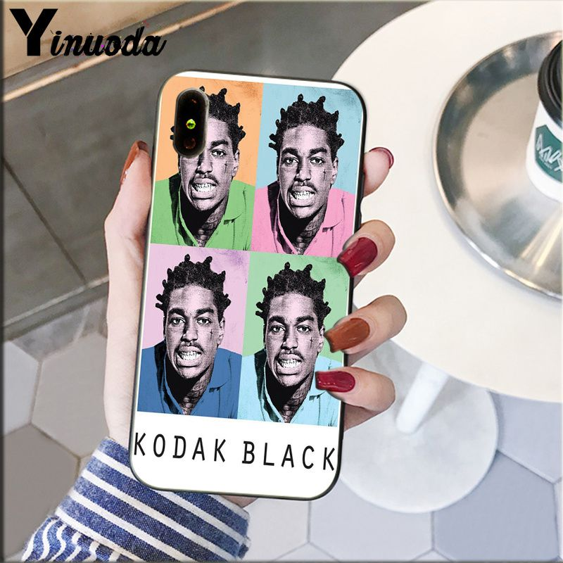 Image 3 - Yinuoda Kodak Black Rapper Soft Silicone black Phone Case for Apple iPhone 8 7 6 6S Plus X XS MAX 5 5S SE XR Cellphones-in Half-wrapped Cases from Cellphones & Telecommunications