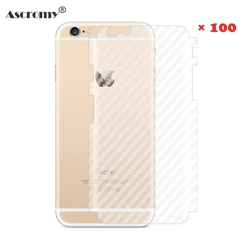 imágenes para Ascromy 100 unids engomada de la fibra de carbono 3d protector de pantalla para iphone 6 6 s iphone 6 7 plus protector de pantalla película protectora de nuevo