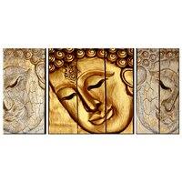 Hiện đại Phật Đầu Bức Chân Dung Canvas Vẽ Tranh Tường In mạ Vàng Bức Tượng của Phật Mặt Hình Ảnh Cổ Điển Zen Still Life tác phẩm nghệ thuật